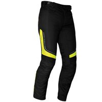 Richa Colorado Textile Motorcycle Trousers Black|Flo Yellow (Short Leg)