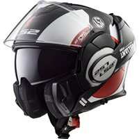 LS2 FF399 Valiant Avant Helmet (White|Black|Red)