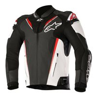 Alpinestars ATEM v3 Leather Motorcycle Jacket (Black/White/Red)