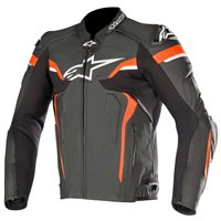 Alpinestars CELER v2 Leather Motorcycle Jacket (Black/White/Fluo Red)