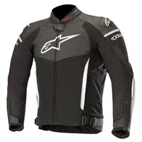 Alpinestars SP-X Leather Motorcycle Jacket (Black/White)
