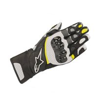 Alpinestars SP-2 v2 Motorcycle Gloves (Black/White/Fluo Yellow)
