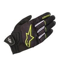 Alpinestars Atom Motorcycle Gloves (Black/Fluo Yellow)