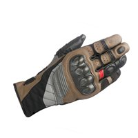 Alpinestars Belize Drystar Motorcycle Gloves (Black/Tobacco/Red)