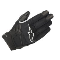 Alpinestars Faster Motorcycle Gloves (Black/White)