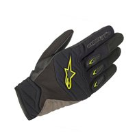 Alpinestars Shore Motorcycle Gloves (Black/Fluo Yellow)
