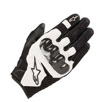 Alpinestars SMX-1 Air v2 Motorcycle Gloves (Black/White)