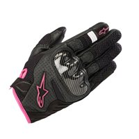 Alpinestars Stella SMX-1 Air v2 Motorcycle Gloves (Black/Fuchsia)
