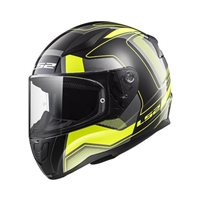 LS2 FF353 Rapid Carrera Helmet (Black|Hi-Vis Yellow)