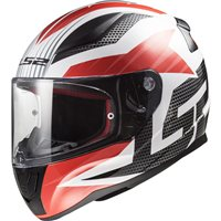 LS2 FF353 Rapid Grid Helmet (White|Red)
