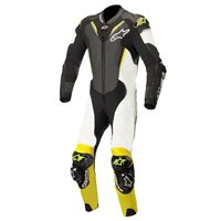 Alpinestars ATEM v3 One Piece Leathers (Black/White/Fluo Yellow)