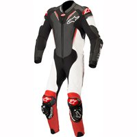 Alpinestars ATEM v3 One Piece Leathers (Black/White/Red)