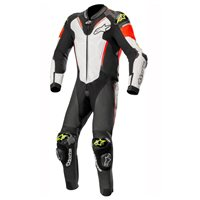Alpinestars ATEM v3 One Piece Leathers (Black/White/Red/Fluo Yellow)