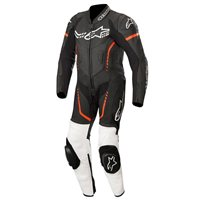 Alpinestars YOUTH GP PLUS One Piece Leathers (Black/White/Red Fluo)