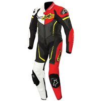 Alpinestars YOUTH GP PLUS One Piece Leathers (Black/White/Yellow Fluo)