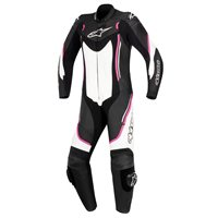 Alpinestars STELLA MOTEGI v2 One Piece Leathers (Black/White/Fuchsia)
