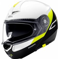 Schuberth C3 Pro Gravity Yellow Flip Front Helmet (White|Black|Yellow)