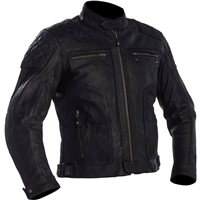 Richa Detroit Leather Motorcycle Jacket (Black)