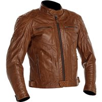 Richa Detroit Leather Motorcycle Jacket (Congac)
