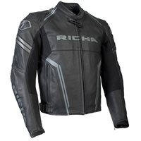 Richa Monza Leather Jacket (Black|Grey)