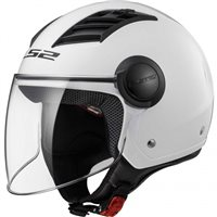 LS2 OF562 Airflow Open Face Helmet (Gloss White)