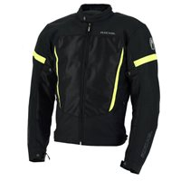 Richa Airbender Textile Motorcycle Jacket (Black|Fluo Yellow)