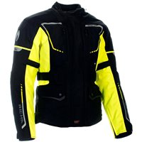 Richa Phantom 2 Textile Motorcycle Jacket (Black|Fluo Yellow)