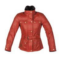 Spada Womens HARTBURY Wax Jacket (Red)