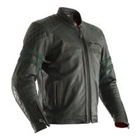 RST IOM TT Hillberry CE Leather Jacket (Green)