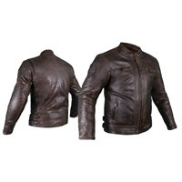 RST IOM TT Retro II CE Leather Jacket (Brown)