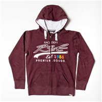 RST Ladies Full Zip Casual Hoodie 0177 (Burgundy)