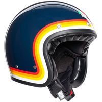 AGV X70 Riviera Open Face Helmet (Blue|Rainbow)