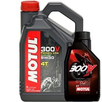 MOTUL 300V 5W30 Factory Line Race 100% Synthetic Oil