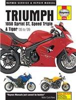 Haynes  Manual 4796 Triumph 1050 ST; Speed Triple & Tiger 05-09