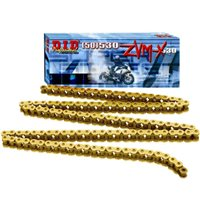 DID 530 ZVM Gold Colour Heavy Duty X Ring Chain (118 Links)