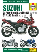 Haynes  Manual 4798 Suzuki GSF650 & 1250 Bandit 07 - On