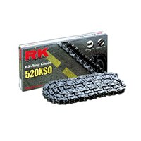 RK 520 XSO Silver O-Ring H.Duty Road Bike Chain (116 Links)