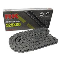 RK 525 XSO Silver X-Ring H.Duty Road Bike Chain (116 Links)