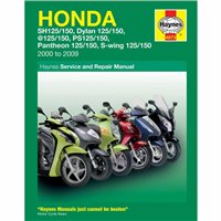 Haynes  Manual 4873 Honda 125 SCOOTERS (00-09)
