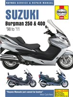 Haynes  Manual 4909 Suzuki 250 & 400 Scooters (98-11)