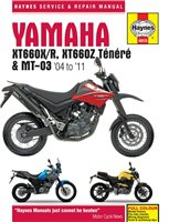 Haynes  Manual 4910 Yamaha XT660 & MT-03 (04-11)
