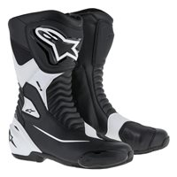 Alpinestars SMX-S Motorcycle Boot (Black|White)