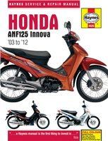 Haynes  Manual 4926 Honda ANF125 Innova Scooter (03-11)