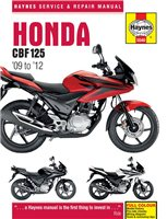Haynes  Manual 5540 Honda CBF125 & XR125L (09-12)