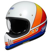 Shoei Ex-Zero Equation TC-2 Helmet (White|Orange|Blue)