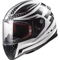 LS2 FF353 Rapid Carborace Helmet (Black|White)