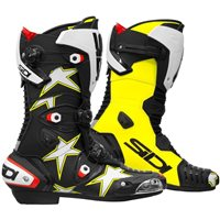 Sidi Mag-1 Stars Motorcycle Boots (Black/Flo Yellow)