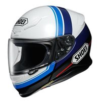 Shoei NXR Philosopher TC-2 Motorcycle Helmet (White|Blue)