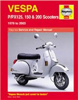 Haynes  Manual 707 VESPA P/PX125;150 & 200 78-09 Scooter