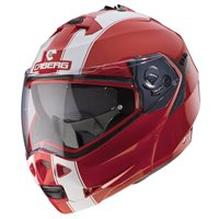 Caberg Duke II Legend Flip Front Helmet (Red|White)